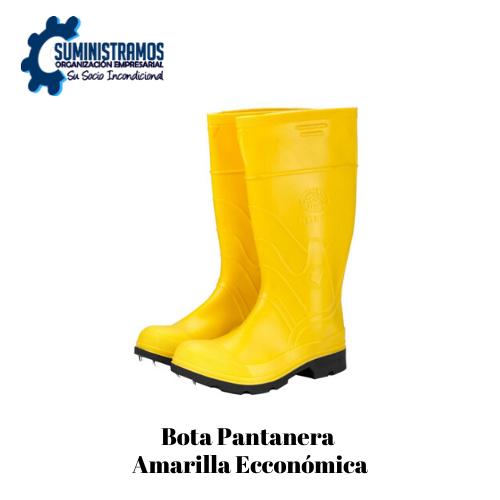 Bota Pantanera Amarilla Económica