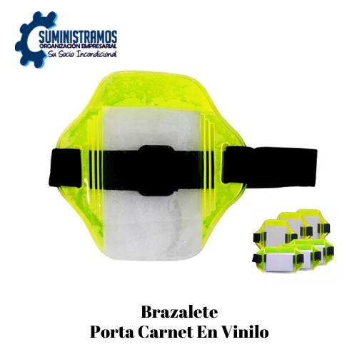 Brazalete Porta Carnet en vinilo