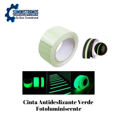 Cinta Antideslizante Verde Fotoluminiscente