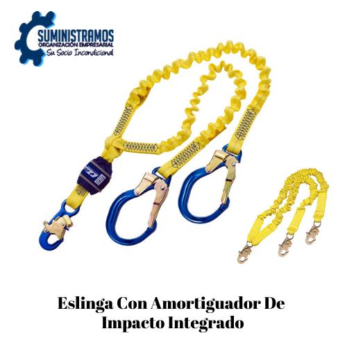 Eslinga con amortiguador de impacto integrado