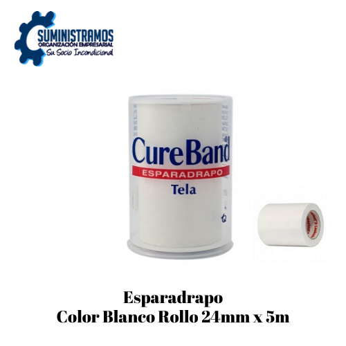 Esparadrapo Color Blanco Rollo 24mmx5m.