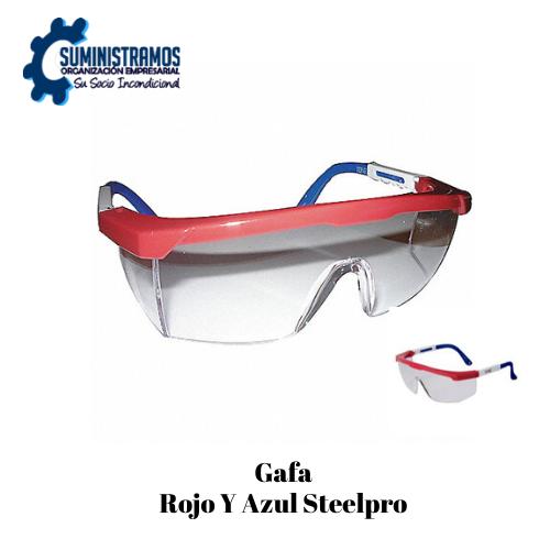 Gafa Rojo Y Azul Steelpro