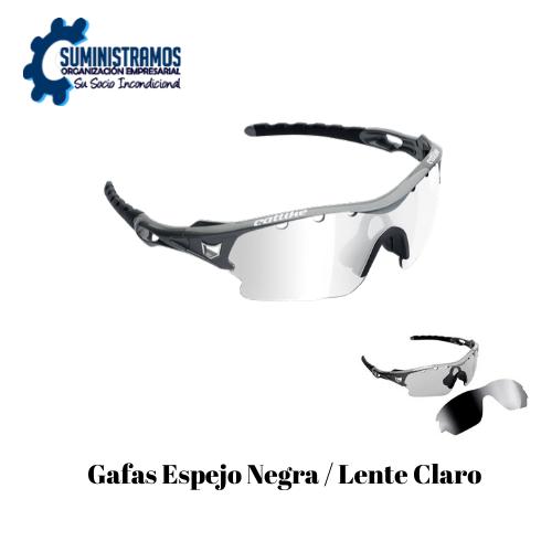 Gafas Espejo Negra Lente Claro