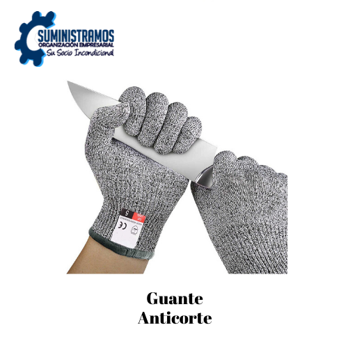Guante Anticorte Poliester, Nylon Y Acero
