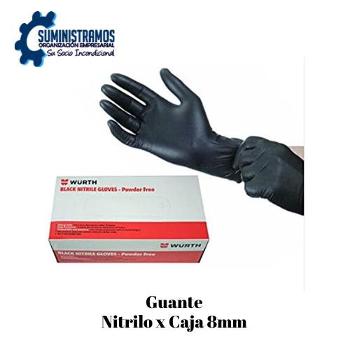 Guante Nitrilo x Caja 8mm