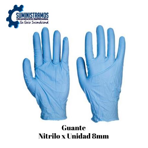 Guante Nitrilo x Unidad 8mm