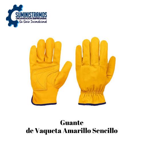 Guante de Vaqueta Amarillo Sencillo