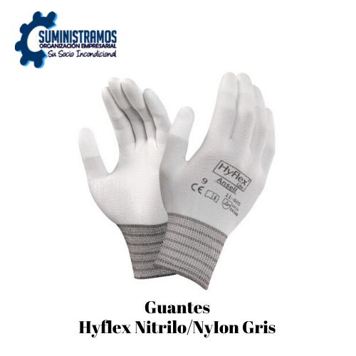 Guantes Hyflex NitriloNyIon Gris
