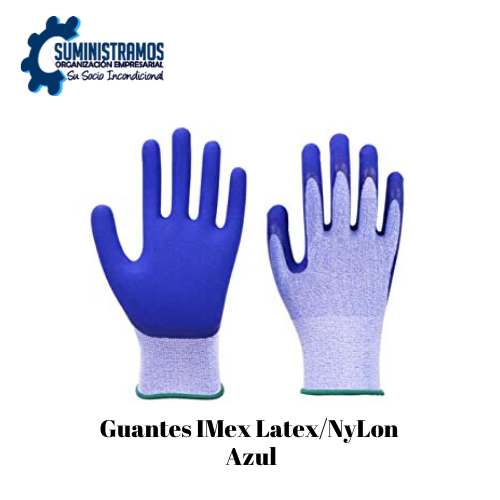 Guantes IMIex Latex-NyIon Azul
