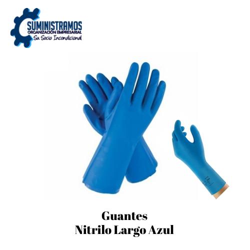 Guantes Nitrilo Largo Azul
