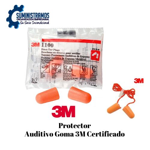 Protector Auditivo Goma 3M Certificado