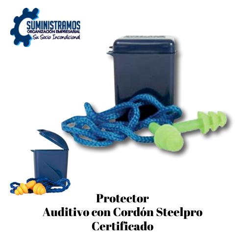 Protector Auditivo con Cordón Steelpro Certificado