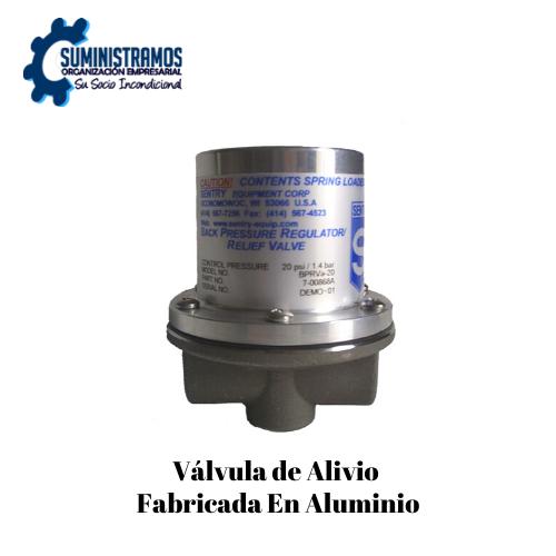 Válvula de Alivio Fabricada en aluminio